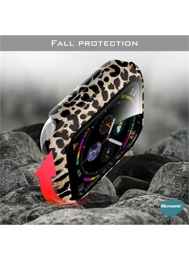 Microsonic Apple Watch Series 3 38Mm Kılıf Hard Full Protective Cover Bumper Cow Kahve